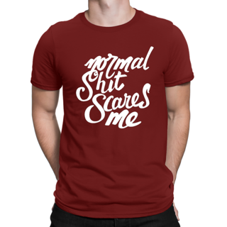 Desi Swag Red Round Neck Half Sleeve T-Shirt for Men