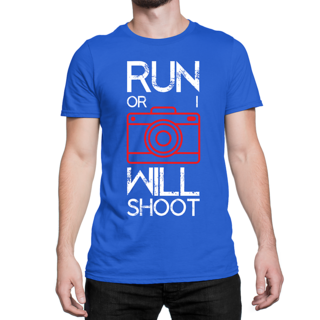 Desi Swag Blue Round Neck Half Sleeve T-Shirt for Men