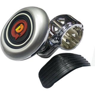 AutoPop Premium Quality Silver Steering Knob for - Nissan Terrano