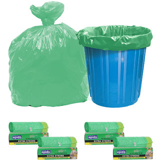 Epido Pack of 4 Green Biodegradable Drawstring Garbage Bags (40 pcs)