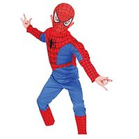 Spiderman Multicolour Polyester Fancy Dress Costume For Kids