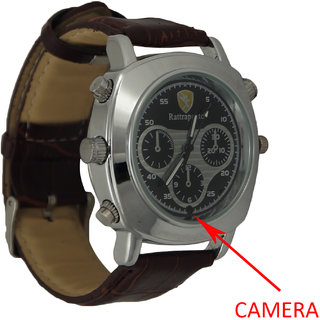M MHB SPY Wrist Watch Hidden Audio /video recording. While recording no light Flashes Leather Wrist Watch Camera Inbuild 4GB memory.Original brand Only Sold by M MHB.