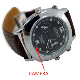 M MHB SPY Wrist watch Hidden audio/video Recording. While recording no light Flashes. Leather Wrist Watch Camera Inbuild 16gb Memory .Original brand Only Sold by M MHB