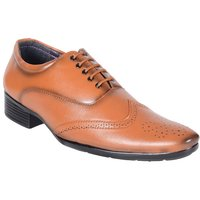 Shoeniverse Mens Tan Brogue Shoes