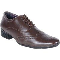 Shoeniverse Mens Brown Brogue Shoes