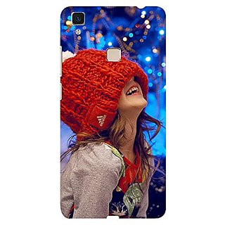 ifasho Little girl laughing Back Case Cover for Vivo V3