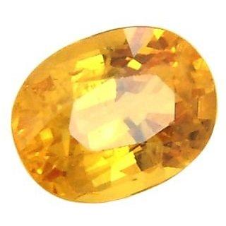 om gyatri7.25 ratti Yellow Sapphire Ceylon Mined Pukhraj