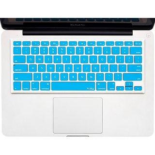 Kuzy - AQUA BLUE Keyboard Cover Silicone Skin for MacBook Pro 13