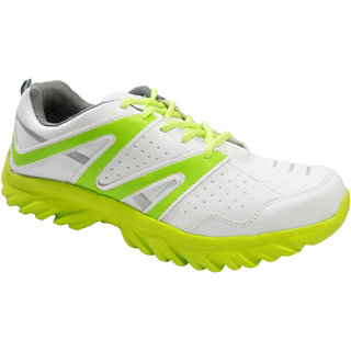 Fast Trax Parrot Green  And White Men's Sports Shoes