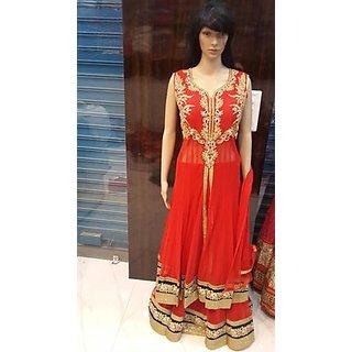Red long party dress Dress women