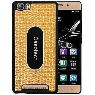 Casotec Metal Back TPU Back Case Cover for Gionee Marathon M5 Lite - Gold