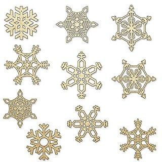 Christmas Snowflakes Wooden DIY (Set of 10)