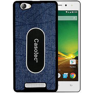 Casotec Metal Back TPU Back Case Cover for Lava X11 4G - Dark Blue
