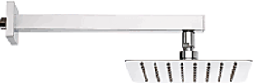 sss-ultra slim square shower 4 inch with 12 inch square rod