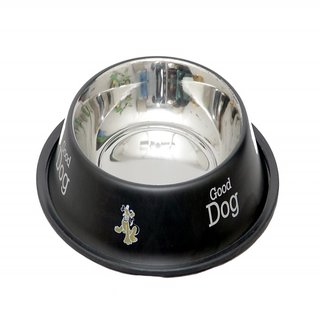 Pethub Quality And Stylish Dog Food Bowl-460 ML -Black
