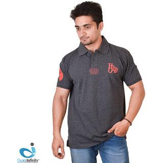 Mens Daily Essentials Pique Polo T-Shirt (Gray)