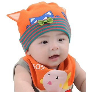 Buy Baby cap with bib Online   ₹399 from ShopClues a1f390314bd
