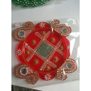 Designer Pooja Thali For Diwali Poojan