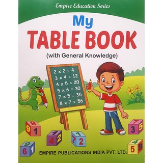 MY TABLE BOOK (WITH GENERAL KNOWLEDGE)