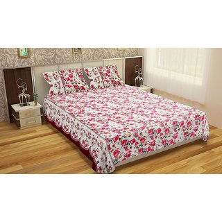Polycotton double Bedsheet  with 2 pillow covers BD-35