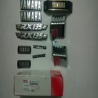 Original Yamaha RX135 Emblem Set or Monogram Kit