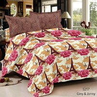 Home Castle Glow In The Dark Double Bedsheet With 2 Pillow Covers