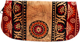 Batik Paisley India Handmade Shantiniketan Pure Leather Women's Wallet Clutch Purse