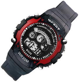 Mens Watch Quartz Digital Watch Men Sports Watches LED Digital Watch Red