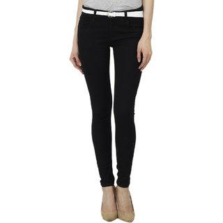 9699 Black Cotton Jeans