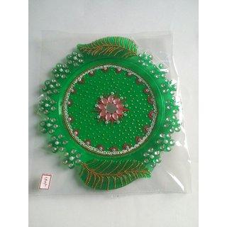 puja thali hand decorated