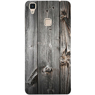 Casotec Wooden Texture Design 3D Printed Hard Back Case Cover for Vivo X3