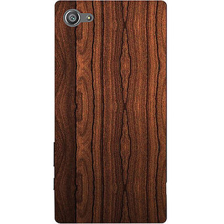Casotec Wooden Texture Design 3D Printed Hard Back Case Cover for Sony Xperia Z5 Compact / Mini