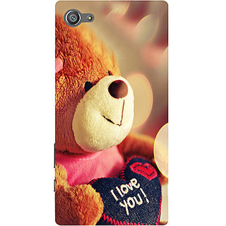 Casotec Teddy Bear Design 3D Printed Hard Back Case Cover for Sony Xperia Z5 Compact / Mini