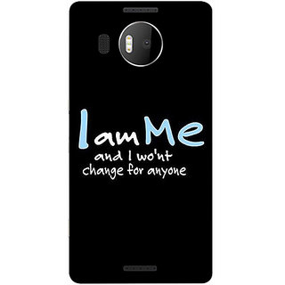 Casotec Quotes Design 3D Printed Back Case Cover for Microsoft Lumia 950 XL