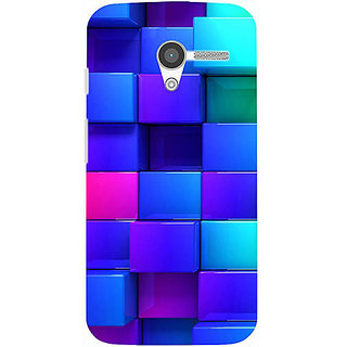 Casotec Blocks Rainbow 3D Graphics Design 3D Printed Back Case Cover for Motorola Moto X