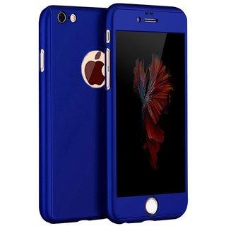 ACCWORLD Royal Blue Colour 360 degree Full Body Protection Case Cover for Iphone 6 Plus