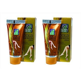 Astaberry gold hair removal creme 60gm pack of 2
