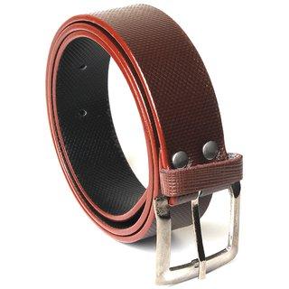 Men's Semi Formal Belt Brown Color Pin Buckle at best price