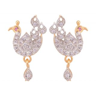 SKN Silver and Gold Plated Stud AD Jewellery SKN-046