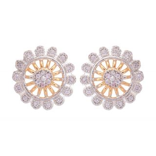 SKN Silver and Gold Plated Stud AD Jewellery SKN-044
