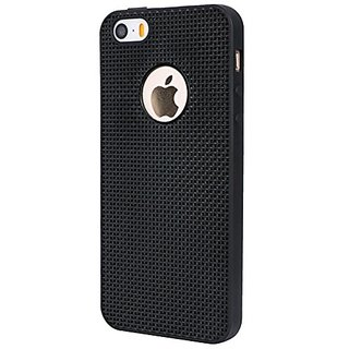 VSDEALS Soft Silicon Back Case Cover for Apple iPhone 5 / 5S / 5 SE - Black