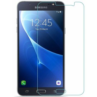 Samsung Galaxy J7 Tempered Glass Screen Guard With Cleaning Cloth