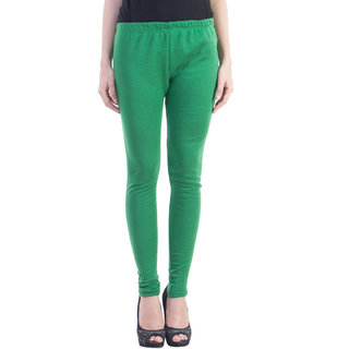 Dewy Green Woolen Legging