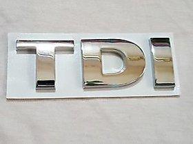 TDI Chrome Rear Emblem MONOGRAM Badge For Audi VW Passat Jetta PASSAT VW POLO VENTO