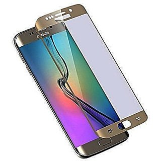 ACCWORLD Premium Curved Tempered Coloured Glass Screen Protector For Samsung Galaxy S6 Edge Plus (Gold)