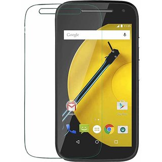 Motorola Moto E2 Tempered Glass Screen Guard With Cleaning Cloth