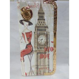 purse White Printed Clutch