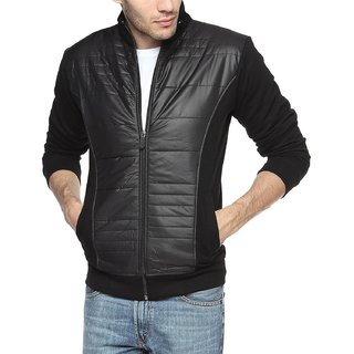 Black Mens cotton Jacket
