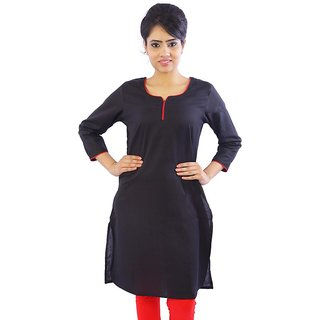 Sunshine Rajasthan   Designer Printed Black Ethnic Cotton Top - 110