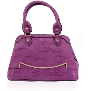 MABEL WOMEN PU HANDBAG- PURPLE